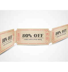 Vintage sale coupons vector