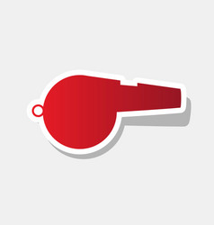 whistle sign new year reddish icon with vector image