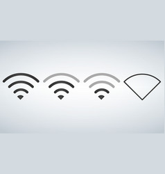 Wi-fi icons levels signal strength indicator vector