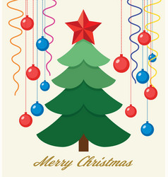 winter holiday greeting cards with christmas tree vector image