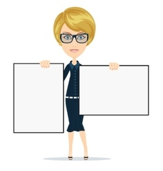Business woman giving a presentation vector image
