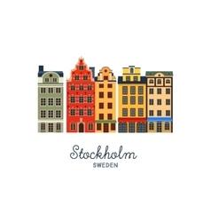 Gamla stan - Old Town of Stockholm Sweden vector image