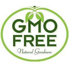 GMO Free Natural Goodness vector image
