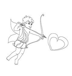 little cupid is ready to shoot love arrow vector image vector image