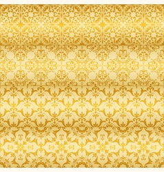 seamless golden floral paterns vector image