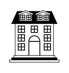 house exterior isolated icon vector image