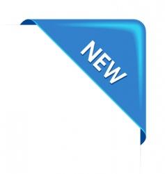 new blue corner business ribbon vector image vector image