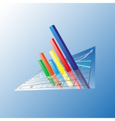 Progressive Bar chart Abstract vector image