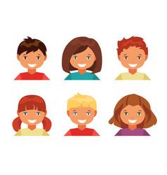 children avatars vector image vector image