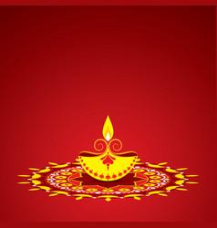 diwali utsav greeting or poster card vector image