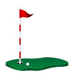 golf theme vector image vector image