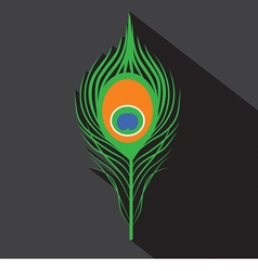 Peacock Feathers Symbol vector image