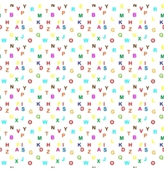 Seamless Letter Pattern vector image vector image