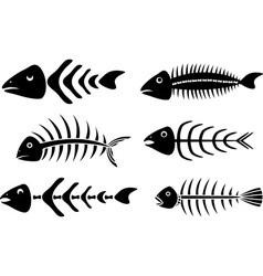 Various fishbones stencils vector