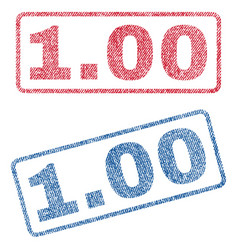 100 textile stamps vector image