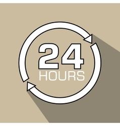 24 hours design vector image