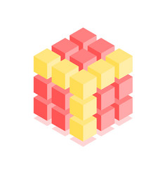 abstract cubic icon isometric vector image