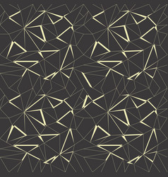 Abstract geometric pattern background with black vector