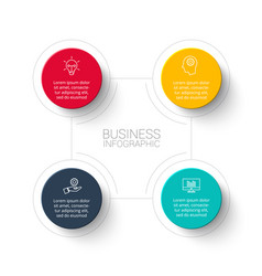 Abstract infographic with 4 circles template vector