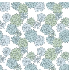 Abstract seamless pattern with succulentes vector