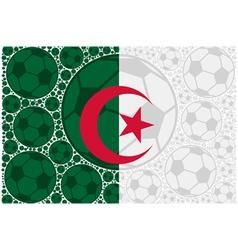 Algeria soccer balls vector image