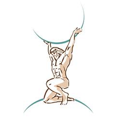 Atlas that holds sky god ancient greece vector