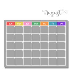 basic calendar icon vector image