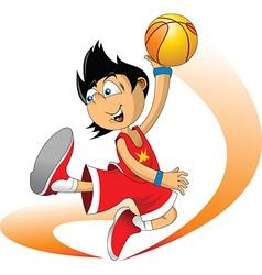 Basketballer vector image