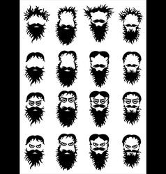 Bearded hipster guy portrait vector