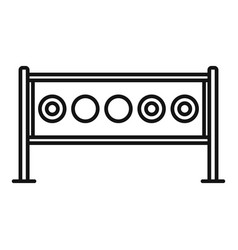 Biathlon target icon outline style vector