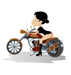 Biker babe vector