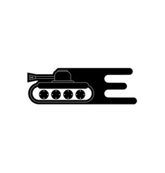 Black icon on white background military tank high vector