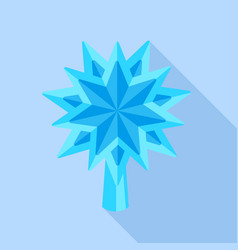 blue star fir tree icon flat style vector image