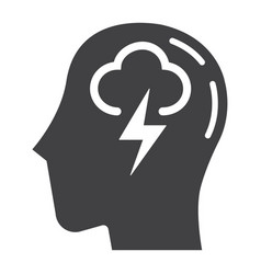 Brainstorm solid icon business and idea vector
