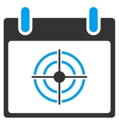 Bullseye Calendar Day Toolbar Icon vector