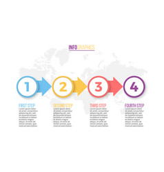 Business infographics presentation with 4 steps vector