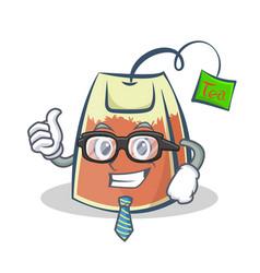 Businessman tea bag character cartoon art vector