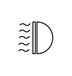Car light icon vector