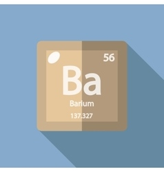 Chemical element Barium Flat vector