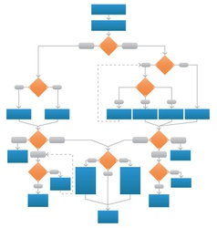 Clean Corporate Flowchart vector