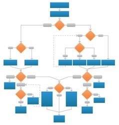 Clean Corporate Flowchart vector image
