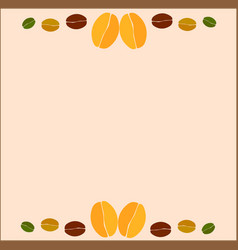 coffee beans background in frame vector image