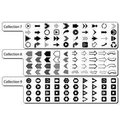 collection black arrows vector image