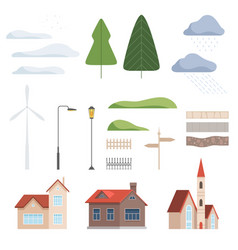 collection of urban landscape constructor design vector image
