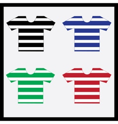 color navy t-shirts collection eps10 vector image