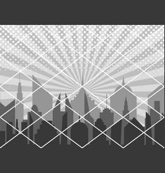 Comic cover monochrome cityscape concept vector