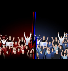 crowd cheering fans vector image