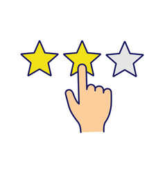 Customer feedback and rating color icon vector