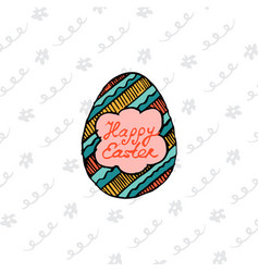 design template invitation card for easter vector image