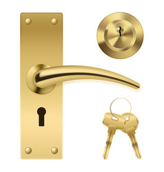 Door handle key set vector